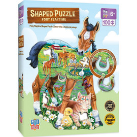 Shaped Pony Playtime 100 Piece Kids Puzzle