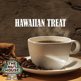 <p>Hawaiian Treat flavored coffee beans: coconut and hazelnut with a twist.</p>