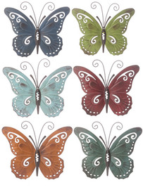"""Metallic butterflies in one of six assorted colors to decorate your room.  9 1/4""""W. x 7 3/4""""H"""