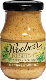 Woeber's Southwest Mustard has more heat than regular mustand. Delicious with pork products or on ham sandwiches.