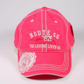 Route 66, The Legend lives on in this pretty pink cap.