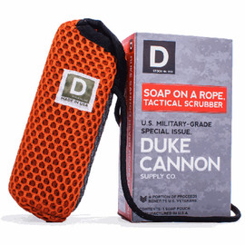 This U.S. military-grade tactical soap pouch should be standard-issue for every shower. To maximize hygiene in tactical situations, this equipment is engineered with a coarse mesh to scrub your hands and feet, and a softer mesh for less rough areas. The 550-mil-spec paracord keeps your large soap off the ground. Perfect for home, outdoor, field, or prison showers.