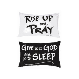 "Comes in two assorted sentiments: ""Rise up and Pray"" and ""Give it to God and go to Sleep.""  Sold individually."