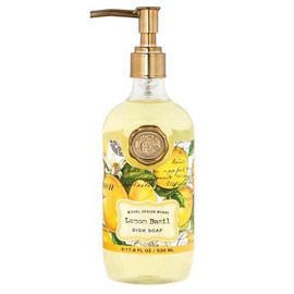 We all need liquid soap for kitchen wash-ups. But let's be honest. The containers are far from attractive. The perfect solution? Our lightly scented dish soap. It comes in a generously sized, pump-spout bottle that you will be proud to keep on your kitchen counter, and it's gentle on the hands. DETAILS 17.8 fl. oz. / 530 ml liquid SCENT Citrus notes of lemon and mandarin enhanced with green basil leaf