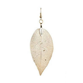 Gold Naturally Imperfect Leaf Earring