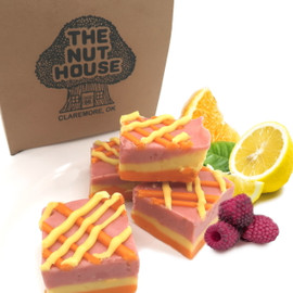 <p>All your favorite Sherbet flavors swirled together to create this fresh summer fudge.</p> <p><strong>Each pound is cut into 4 thick 1/4 pound squares. That's a lotta fudge!!</strong></p> <p><strong><span>PLEASE ACKNOWLEDGE:</span>Some fudge can take 72 hours to ship if not already made. Call for availability. 918-266-1604</strong></p>