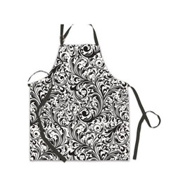"""Here's an apron any chef would be proud to wear. It comes in several sophisticated designs and is 100% cotton for easy care. Just tie it at the waist and use the metal double D-rings to adjust the neck. DETAILS Body of apron measures 27.5 x 31.5"""" / 69.8 x 80 cm"""