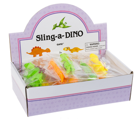 "Slingshot Dino or Unicorn Thermoplastic Rubber Color: Multi Dimensions: 4"" L. x 13/8"" H."