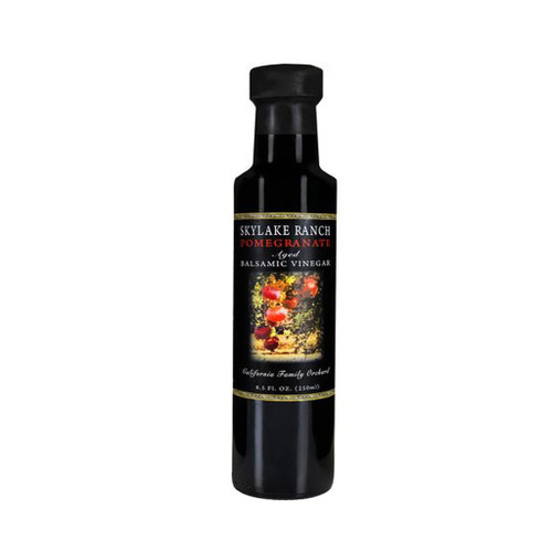 Using a 12 year aged balsamic vinegar with fresh pressed pomegranate juice makes this vinegar a sweet and tangy treat for dipping and drizzling pleasure. Delicious on salads, fruit, and ice cream.