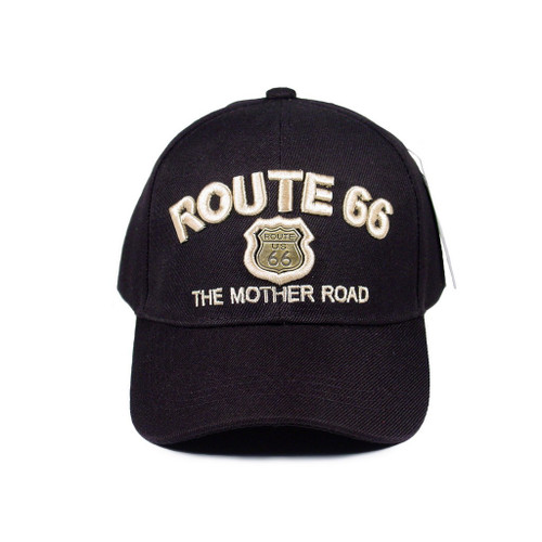 R66 Black Cap with Gold Metal Shield