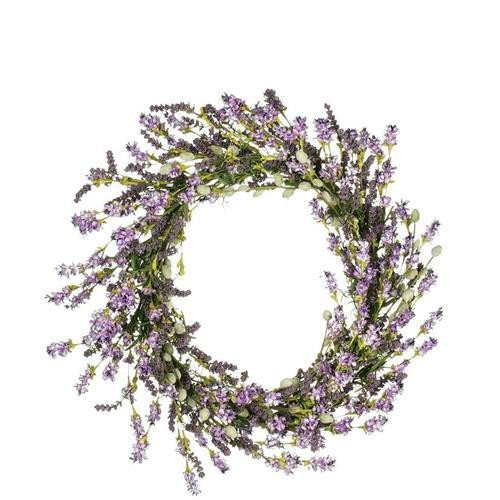 "If you want realistic, this lavender berry bush will not disappoint. Just a couple of these bushes in your favorite container, and guests will be envious of your obvious green thumb. Don't worry, we won't tell! Dimensions:	22""L x8""W x22""H Weight:	12.00oz"