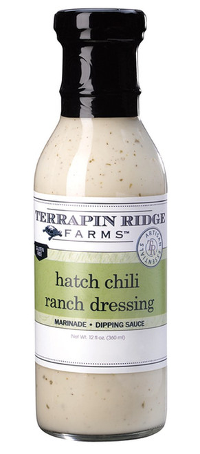 The prized green chile from Hatch, New Mexico provides a flavorful kick to our bold ranch dressing. Soon to be your favorite, use on salads, sandwiches and as a dip.