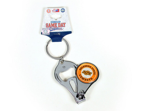 Cowboy fans, alumni and students alike will be able to have pride in their manicure as well as their school with this logo keychain that doubles as a nail clipper.
