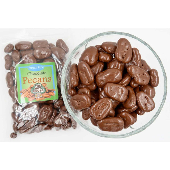 Sugar Free Chocolate Pecans 10 oz Covered Nuts The Nut House