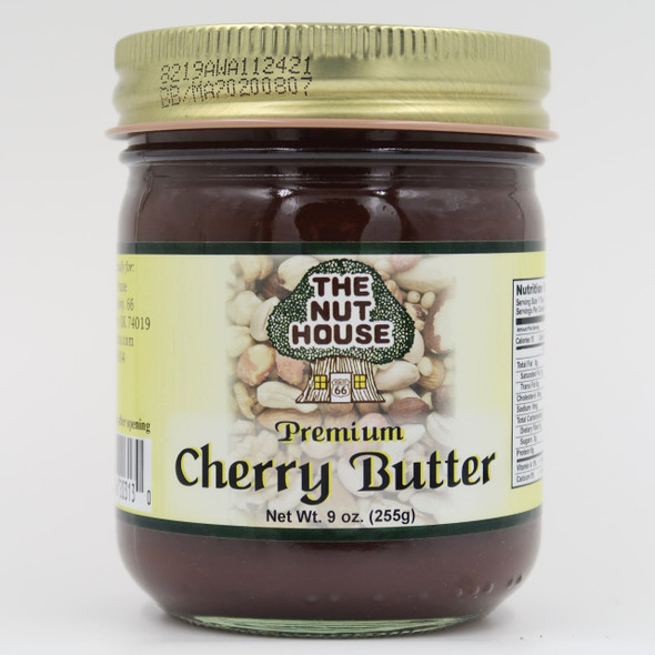 New Premium Nut House Cherry Butter - This will be a new standard of TASTE for cherry butters.  Cherries, vanilla and cinnamon - that's three flavors that are perfect for each other. Cherry Butter Cake, Pop Overs with Cherry Butter, Cherry Butter Cookies...the best cherry butter recipes are better with the best cherry butter.