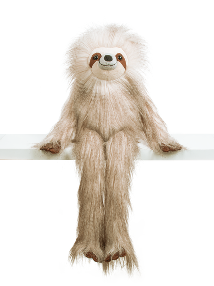 """25"""" tall plush sloth with long fur is a perfect companion for a lazy day!"""