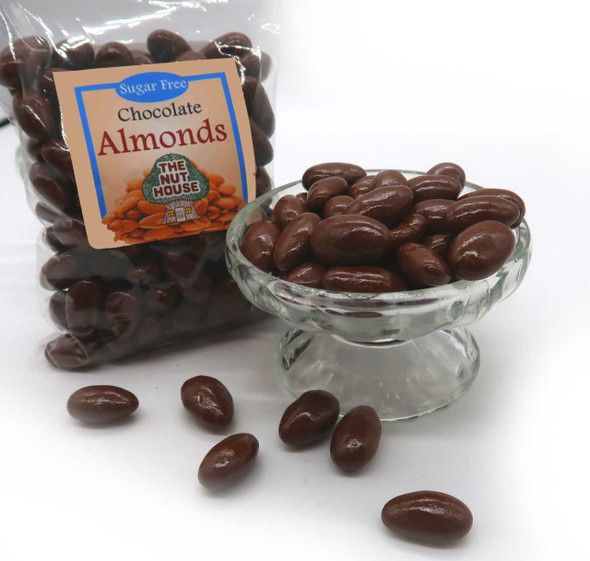 Sugar Free Chocolate Almonds 12 oz Candied Almonds The Nut House