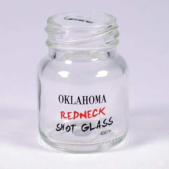Oklahoma Redneck Shot Glass. Mini-sized mason jar shot glass. The perfect party gift!