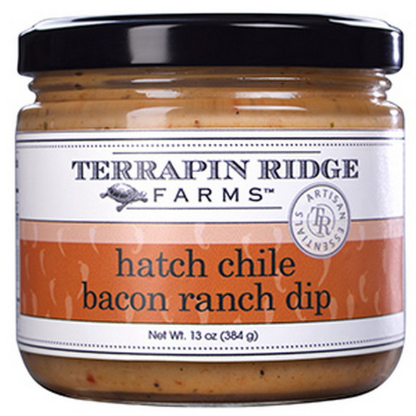 Roasted red bell pepper puree, Hatch Chile peppers and bacon are added to creamy ranch to create an insanely delicious dip.  Dip tortilla chips, veggies and finger foods in this amazing dip.  Or, use as a condiment on a sandwich or atop grilled fish, chicken or pork.