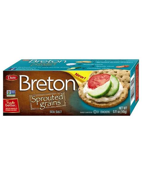 Breton Sprouted Grains Sea Salt Crackers 5.11 oz