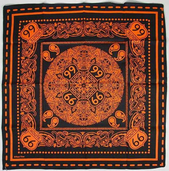 Route 66 Orange Bandana Route 66 Gifts The Nut House