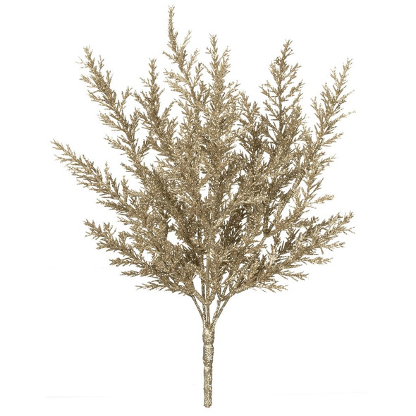 """So glittery! Superfine glitter coats this portable branch is 12"""" long and spreads out up to 8"""" across with multiple bling-y branches. Will jazz up any tree, wreath or garland for the holidays."""