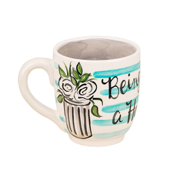 Fill up your cup with a reminder that being a mother is a holy privilege with this beautiful, ceramic jumbo mug!