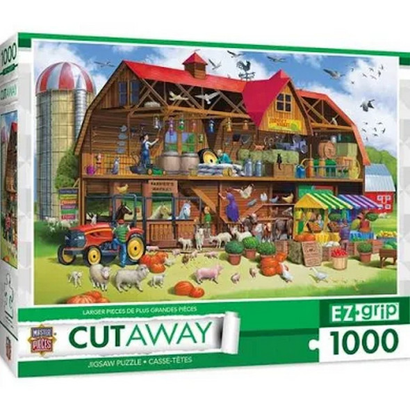 """1000 piece puzzle.  34"""" 23.5"""" inches when assembled.  Box Size: 10 x 12 x 2.5"""