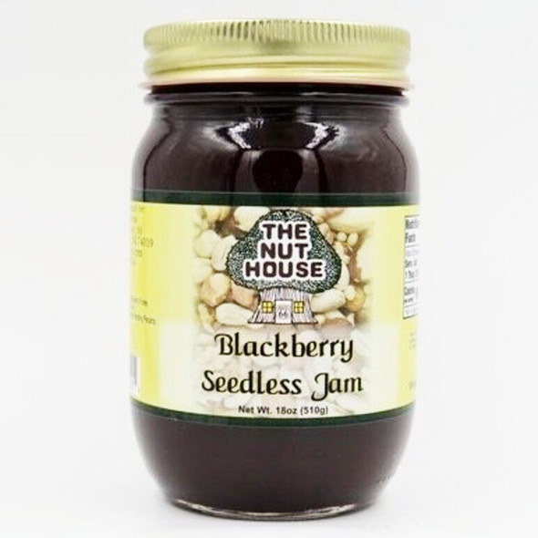 "Our seedless blackberry jam is just as flavorful as the traditional variety.  ""Just Naturally Good."" It is 100% all-natural with no artificial colors or sweeteners.  Ingredients: Sugar, blackberry puree, water, pectin, citric acid. Produced by equipment handling nuts."