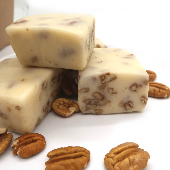 This vanilla fudge is so creamyand the pecans give it the perfect texture. So delicious!!