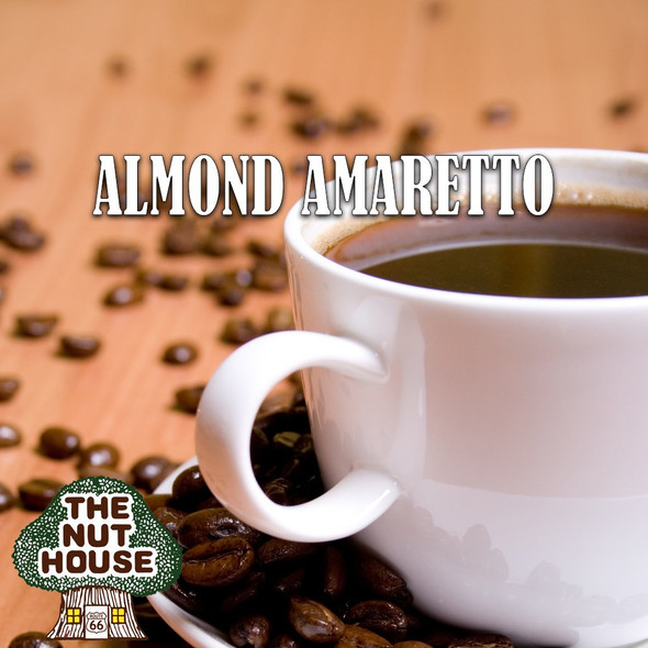<p><span>Almond Amaretto flavored coffee beans: almond liqueur with cherry undertones.</span></p>