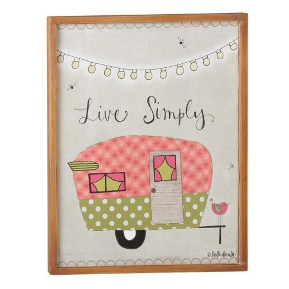 """Remember to """"Live Simply"""" with this cute wall decor. Dimensions: 13"""" L. x 1.125"""" W. x 17"""" H. x 0.920 lb. w"""