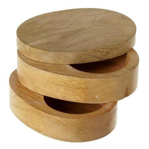"""Two Tiered Swivel Box. Dimensions: 6.75"""" L. x 5"""" W. x 4"""" H. x 1.918 lb. w"""