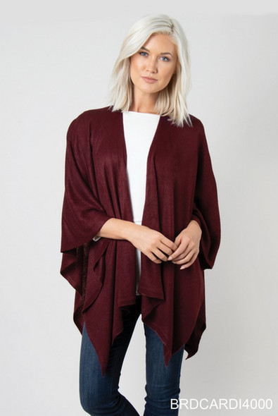 Complete a look with this flattering loose flowing wrap. One size fits all.
