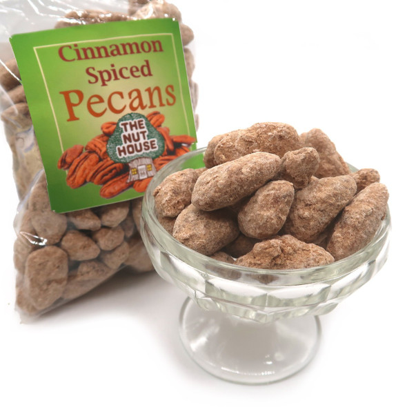 Cinnamon Spiced Pecans 10 oz Covered Nuts The Nut House