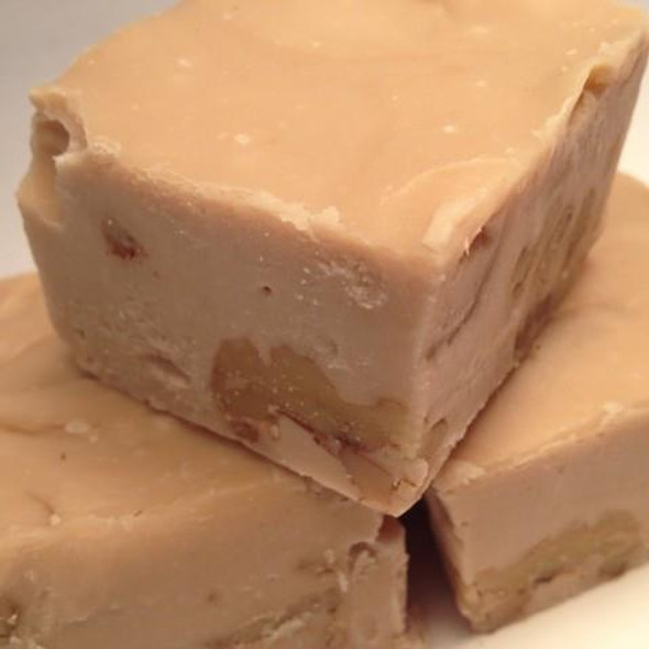 <p>Maple and walnuts swirled together to create a rich decadent fudge.</p> <p>Maple Walnut Fudge is Granny's favorite and a must try for all ages! Gluten Free</p> <p><strong>Each pound is cut into 4 thick 1/4 pound squares. That's a lotta fudge!!</strong></p> <p><strong><span>PLEASE ACKNOWLEDGE: </span>Some fudge can take 72 hours to ship if not already made. Call for availability. 918-266-1604</strong></p>