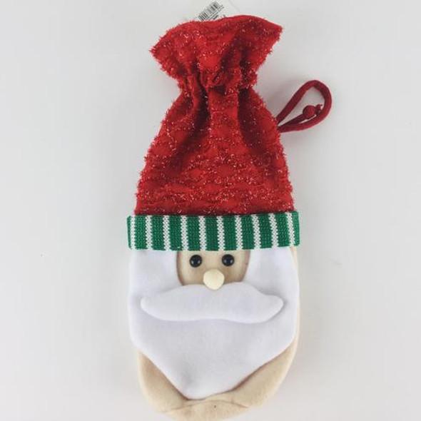 "Felt and glitter fabric santa face and hat  @ 5"" x 12""   .32 lbs"