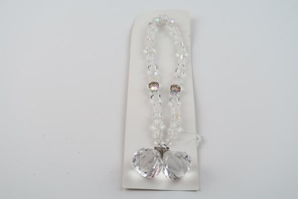 "19"" clear acrylic crystal swag pendant ornament (wt .12 oz)"
