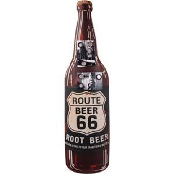 Extra large bottle of root beer for your man cave!  Bottle is 3' tall and curves out from the wall.