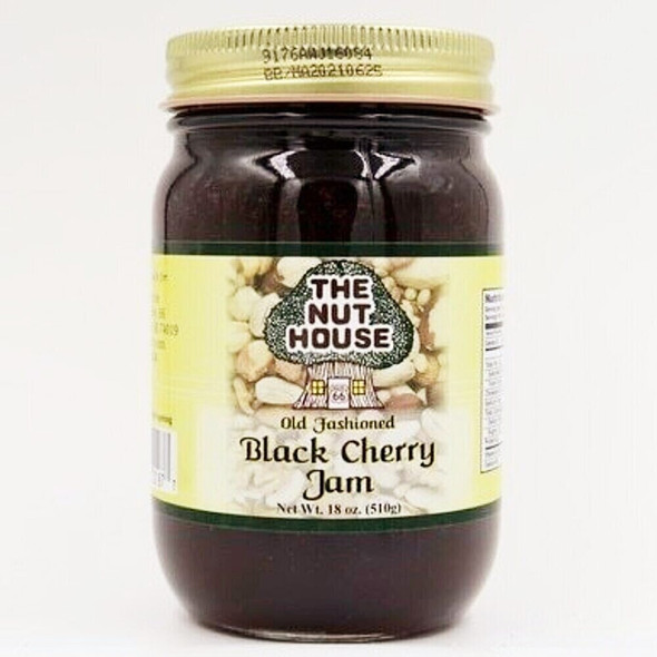 """You owe it to yourself to try the old-fashioned taste of  Black Cherry Jam (18oz) that is """"Just Naturally Good."""" It is 100% all-natural with no artificial colors or sweeteners. The delicious flavor floats out of the jar!   Ingredients: Sugar, black cherries, water, pectin, citric acid. (Produced by equipment handling nuts.)"""