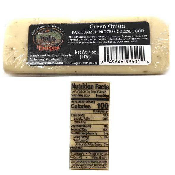 Shelf Stable Green Onion Cheese Cheese The Nut House