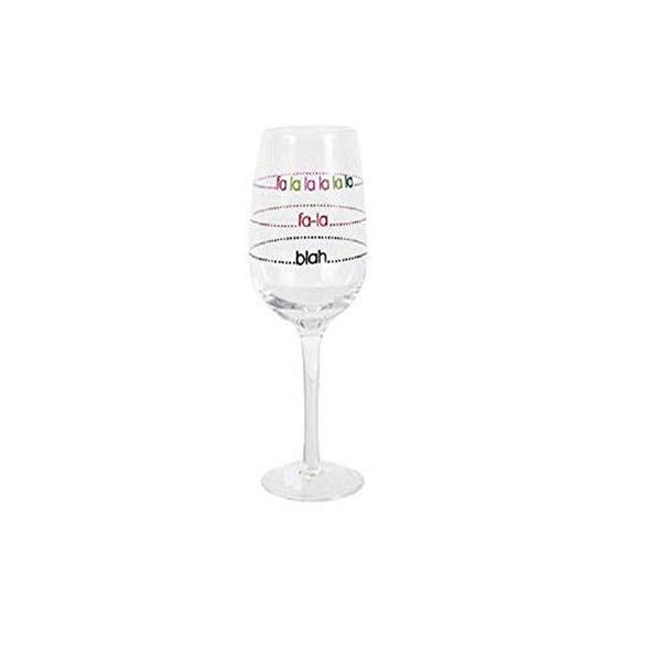 Holiday Wine Glass Fa La La La