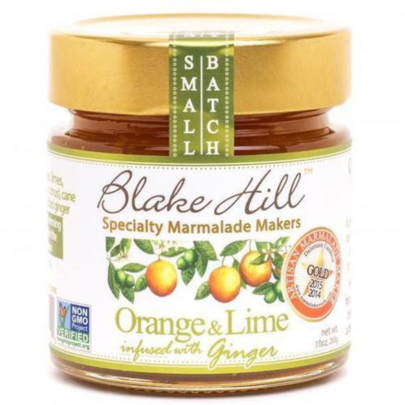Blake Hill's boldest & brightest marmalade, we combine fresh oranges and zesty, fragrant limes with slices of organic crystallized ginger for an intense, full-flavored marmalade.