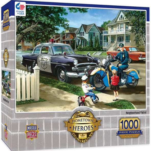 Neighborhood Patrol Hometown Heroes Puzzle 1000 Pieces