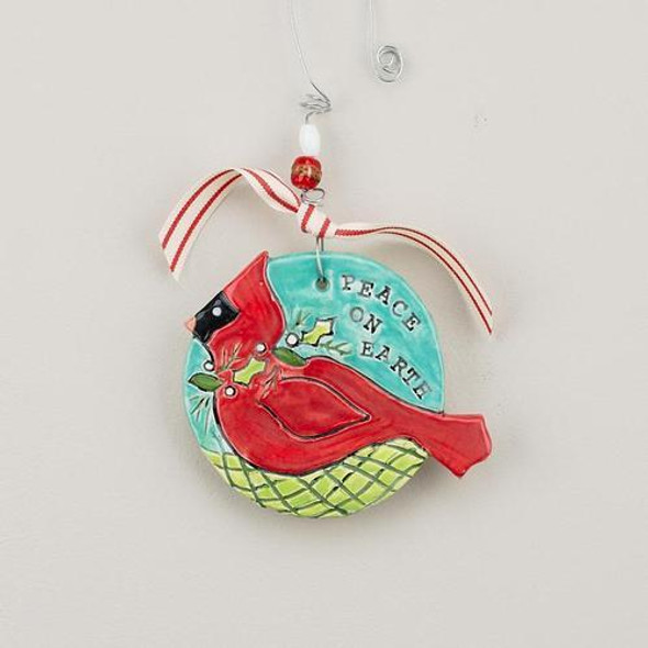 A classic Christmas hymn featuring a cardinal on our flat ornament! Comes ready to display with wire hanger, ribbon, and glass beads!