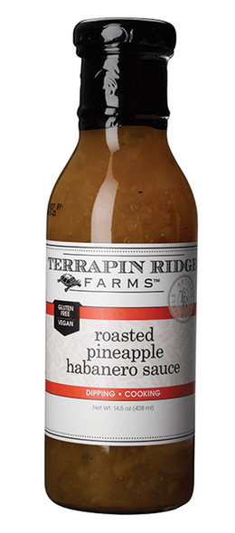 The sweet and caramelized taste of roasted pineapple is combined with red and green bell peppers, onions and fiery habaneros. Pour over cream cheese and serve with crackers for an incredible appetizer. Terrific as a sauce for pork, chicken and fish. Use as a dip with tortilla chips.
