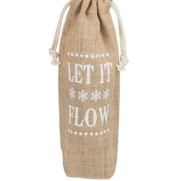 Giving the gift of wine or other spirits? This bag will inspire the receiver to hum a certain song in their head until they drink the whole bottle! Burlap.