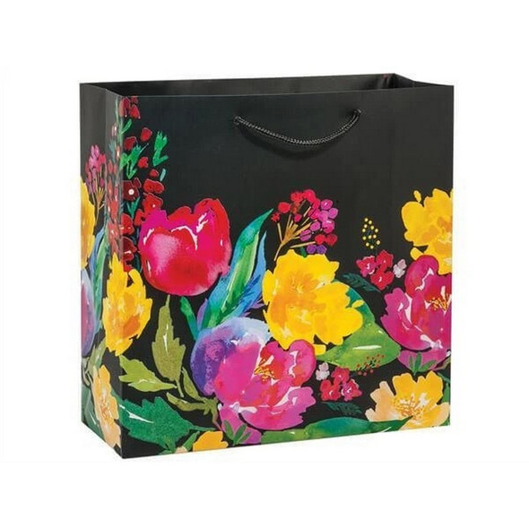 Watercolor Garden Blooms Gift Bags, Filly 12x5x12""
