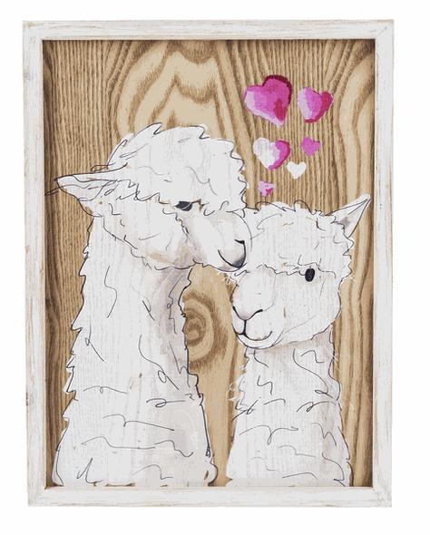 Llama Love Plaque
