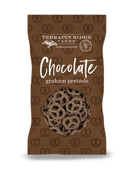 Rich, delicious, slightly sweet flavor of chocolate all wrapped up in a light and crunchy pretzel! Perfect to add to cheese and fruit boards. Use with dessert dips. Top yogurt or simply have a treat wth a cup of coffee or your favorite fresh brewed tea.